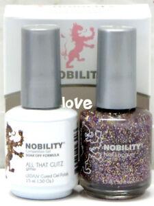 LECHAT NOBILITY LED/UV GelColor & Free Nail Polish Set NBCS072- All That Glitz