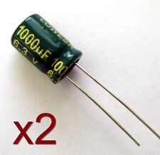 2x Condensateur électrolytique 6.3V 1000uF / 2x Radial electrolytic capacitor