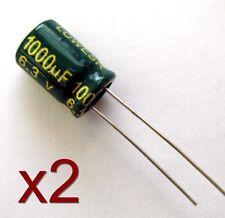 2x Condensateur électrolytique 6.3V 1000uF / 2x Radial electrolytic capacitor