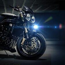 Universal Motorcycle Black LED Headlight Driving Fog Spot Work Light Lamp 12V 3W