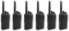 VERTEX VX231 UHF 5 WATT WALKIE-TALKIE TWO WAY RADIOS & D-SHAPE EARPIECES x 6