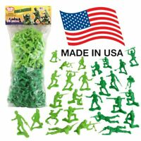 TimMee Plastic Army Men: Green vs Green 96pc Toy Soldier Figures - Made in USA