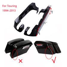 "4"" Hard Saddle Bag Extensions For Harley Touring Road Glide Road King 1994-2013"