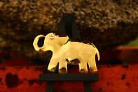 BROOCH  vintage elephant gold tone rhinestones