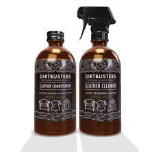 Dirtbusters Leather cleaner and conditioner 2 x 500ml with leather aroma