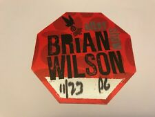 Rare Brian Wilson After Show Unused Backstage Pass