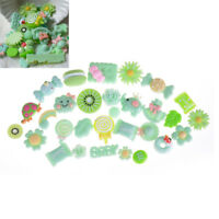 10Pcs Green Blessing Bag Mixed Lot Cute Resin Food Candy DIY Craft Collection WG