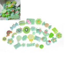 10Pcs Green Blessing Bag Mixed Lot Cute Resin Food Candy DIY Craft CollectionF&F