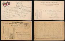 FRANCE WW1 MILITARY STATIONERY 1915 + 1916 ARMY + CARTE POSTALE REPONSE