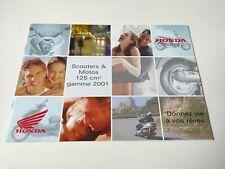Prospectus Catalogue Brochure Honda 125 Gamme 2001
