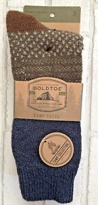 Signature Collection By GoldToe Men's Camp Socks Midweight Soft Warm Fits 6-12.5