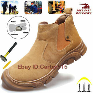 Women's Steel Toe Safety Work Shoes Sneakers Slip Resistant Boots Indestructible