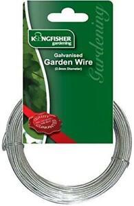 Multi-Purpose Galvanised Garden Gardening Wire Heavy Duty 2mm x 10m