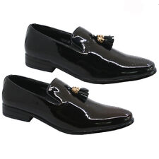 MENS FAUX LEATHER TASSEL DESIGNER DRIVING LOAFERS CASUAL SMART DRESS SHOES SIZE