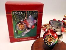 CARLTON ORNAMENT 2001 Purr-fect Holidays Holiday #11 in Series Cat Kitten
