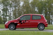 Renault Clio Sport 172 182 côté Checker Wing rayures Autocollants Decals Graphics