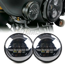 "4.5"" Motorcycle LED Round Auxiliary Passing Lights Bulb for Harley Davidson"