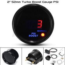 "2"" 52mm Car Digital Turbo Boost Gauge -14~30 Psi Pressure Meter Smoked Dials"
