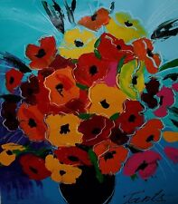 Lena Tants Original Acrylic Painting on Canvas Hand Signed with COA.