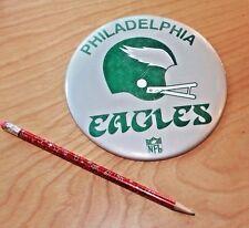"Huge Vintage 1970's PHILADELPHIA EAGLES NFL 6"" BUTTON Double Bar Football Helmet"