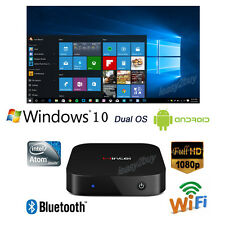 Mini Smart TV Box PC Intel Quad Core Dual OS Windows 10 & Android 4.4 2GB/32GB