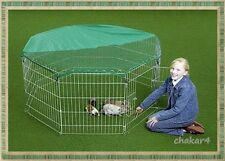 8 Panel Enclosure/Play Pen/Cage for Puppy Rabbit Chicken Guinea & Small Animals