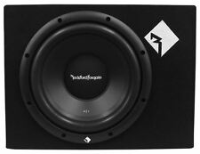 "Rockford Fosgate R1-1X10 Single 10"" 400W Sealed Loaded R1S4-10 Subwoofer+Sub Box"