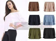 Markenlose taillenlange Damenblusen, - tops & -shirts aus Polyester