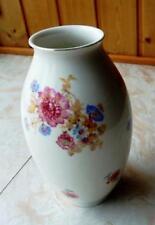 Kästner Saxonia - Vase mit Blumenmalerei und Goldrand - oval