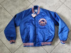 Vintage Chalkline New York Mets Blue Satin Jacket MLB Mens Size Large L BNWT NEW