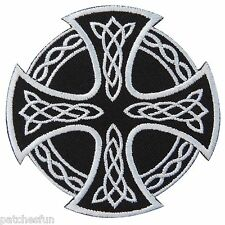 Cross Celtic Skull Gothic Wicca Druids Biker Rocker Tattoo Iron on Patches #1294