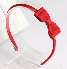 Women Girls School Red Lace ruffle Bow Snow white Party Hair Head band Headband