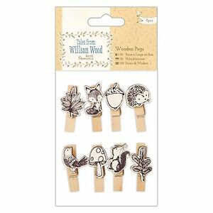 WOODEN PEGS - Tales from Willson Wood Collection - Docrafts