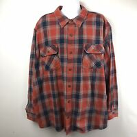 Duluth Trading Free Swingin Flannel Shirt Men's Size 4XL Red and Blue Plaid