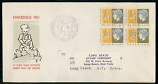 Mayfairstamps Netherlands 1953 Block Kinderzegels First Day Cover wwe92661