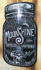 Moonshiner Destillerie Oldschool Aufkleber / Schwarzbrenner Vintage Sticker
