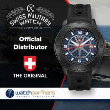 CX Swiss Military RALLYE AUTO watch 44mm DLC case ETA 2824-2 movt Blue dial 2758