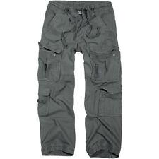 Brandit Uomo Security Pantaloni Pure Vintage Cargo Stile Esercito Combat lungo Antracite L