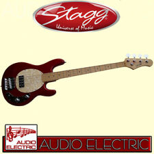 Stagg MB-300 E-Bass im Stingray Style in metallic rot