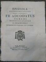 1788 ADEODATO TURCHI (FRANCESCANO): EPISTOLA AL POPOLO DI PARMA