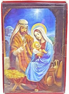 Christmas Nativity Holiday Cards Joseph Mary Baby Jesus 18 count New
