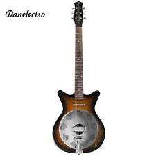 Danelectro '59 Resonator Hollow Body Acoustic Electric Guitar Tobacco Sunburst