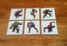 A SET OF 6 SUPER HERO DC & MARVEL CANVAS PICS Each 1 Is 6 X 6
