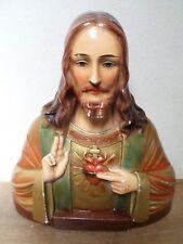 Statue / Buste de Jésus-Christ - Signé : PROP. PECCHIOLI - Numéroté : 1000
