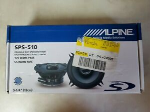 1 Alpine SPS-510 2-Way 5.25in. Car Speaker