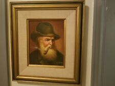 M KING   OIL PAINTING MAN SMOKING PIPE SIGNED.