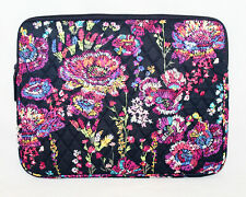"VERA BRADLEY Padded Laptop Sleeve 15224-K90 Midnight Wildflowers 14"" x 10.5"""