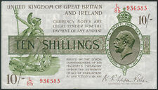 TMM* 1922 Great Britain Bank Note 10 Shillings P#358 aEF