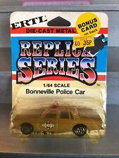 ERTL #1728 1/64 Bonneville Police Car New And Sealed