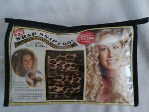 Wrap Snap & Go Comfort Hair Rollers As Seen On TV Set 14 Rollers From 2001